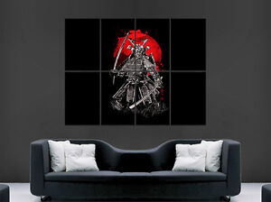 JAPANESE SAMURAI SWORD WARRIOR POSTER  GIANT WALL ART PICTURE PRINT