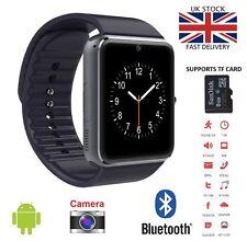 Reloj inteligente GT08 Bluetooth NFC Para HTC Samsung iPhone IOS Cámara SIM Slot-GT-B