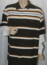 Kani Gold Polo Shirt Long Sleeve Thermal Under Men's Multi-Color Striped XL