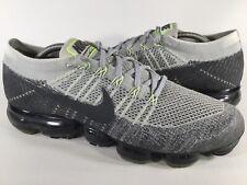 Nike Air Vapormax Flyknit E Neon Green Grey Black Mens Size 11.5 Rare 922915-002