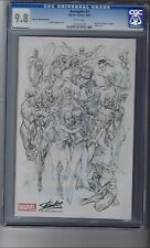 Avengers # 1 CGC 9.8 J Scott Campbell Sketch Stan Lee Edition