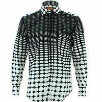 Mens Shirt Loud Originals REGULAR FIT Circles Black Retro Psychedelic Fancy