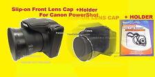 KAISER SLIP-ON LENS CAP TO CAMERA CANON POWERSHOT SX520 SX530 SX540 HS+HOLDER#2