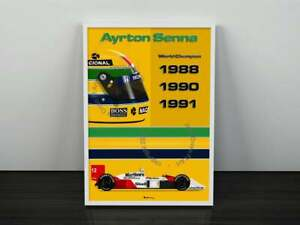 Ayrton Senna F1 Champion Print - Scuderia GP