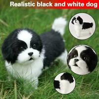 Realistic Puppy Toy Dog puppies Lifelike Stuffed Dog Companion Pet L5C7