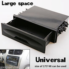 Universal Car auto Single Din Dash Radio Installation Pocket Kit Storage Box