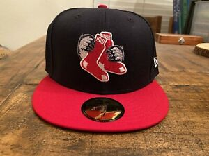 PAWTUCKET RED SOX TWO TONE EDITION NEW ERA FITTED HAT 7 BOSTON