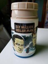 Six Million Dollar Man Aladdin Thermos Flask Lee Majors
