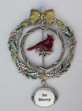 zz12cD Be Merry Christmas Cardinal 3D Ornament Ganz