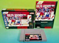 NHLPA Hockey 93 - SNES Super Nintendo Game COMPLETE CIB Rare Box Manual