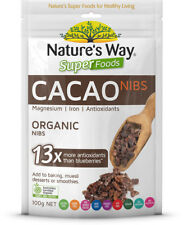 Nature's Way SuperFood Cacao Nibs 100g Pure Raw Chocolate Flavour