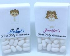 24 TIC TAC CANDY Labels Personalized First Holy Communion FAVOR cute Boy Girl