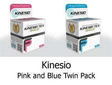 KINESIO FP Tape Rolls x2 5m by 5cm PINK & BLUE -Kinesiology Injuries & Support