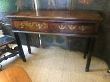 Antique English Oak Dresser Base or Console Brass Handles Great Hall Table