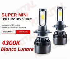 2x LAMPADE LED H4 H5 R2 4300K + ADATTATORE AUTO EPOCA FIAT 500 126 112 600 MINI