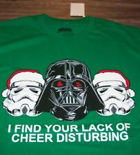 STAR WARS Lack of Cheer DARTH VADER STROMTROOPERS CHRISTMAS  T-Shirt 2XL XXL NEW