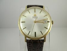 DOXA BY SYNCHRON  14 KT YELLOW GOLD VINTAGE MEN'S WATCH