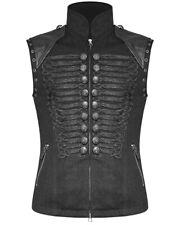 Punk Rave Mens Military Vest Waistcoat Black Gothic Steampunk Dieselpunk Vintage