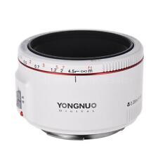 YONGNUO YN50MM F1.8 II 0.35M Prime Lens AF MF for CANON EF EOS DSLR Camera White
