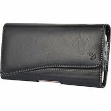 Black2 Horizontal Belt Clip Holster Leather Pouch Case for Samsung Galaxy S5