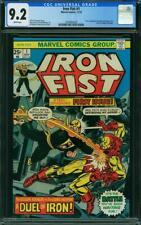 Iron Fist #1 CGC 9.2 Marvel 1975 Iron Man! Key Bronze! White! K12 224 cm clean