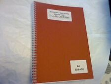 A4 ACCOUNTING /BOOK KEEPING ANALYSIS BOOK WIREBOUND 5 CASH COLUMNS 50 PAGES
