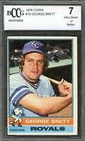 George Brett Card 1976 Topps #19 Kansas City Royals BGS BCCG 7