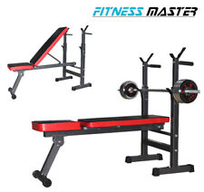 Adjustable Weight Bench Barbell Rack Weightlifting Bed Foldable Press GYM Sit Up