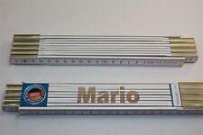 Zollstock mit Namen      MARIO  Lasergravur 2 Meter Handwerkerqualität