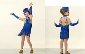 Child Large HOLIDAY Dance Jazz Costume Christmas with Hat