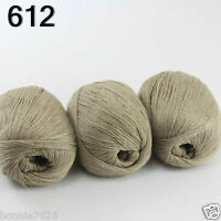 Sale Luxurious Soft 3x50gr Mongolian 100%Cashmere Hand Knitting Wool Yarn 12