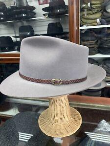 Stetson Vintage Men's Gray Fur Felt Frdora Hat Made In USA Size 7 3/4