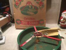 Vintage Christmas Tree Stand - Metal - Hamilton Monroe Mfg. W box