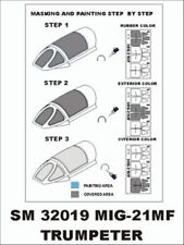 Montex Mini Mask 1:32 MiG-21 MF for Trumpeter Kit Spraying Stencil #SM32019