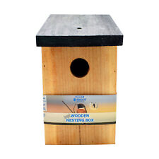 1 x Pressure Treated Wooden Bird House Nesting Box Simply Direct