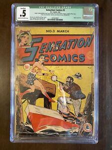 Sensation Comics #3 CGC .5 Qualified Grade (1942) Wonder Woman