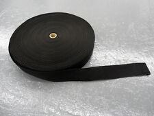 "Black 2-inch wide Polypropylene Webbing, 100 Yard Roll, Light Duty, 0.048"" thick"
