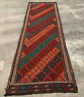 Authentic Hand Knotted Suzani Kilim Kilm Wool Area Runner 8.6 x 2.5 Ft
