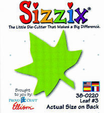 ORIGINAL GREEN SIZZIX DIE LEAF#3