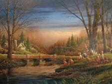 Terry Redlin Spring Fishing print 18 1/2 x 32 image certificate signed &numbered