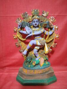Vintage Natraj Shiva Sculpture Temple Hindu God Nataraj Statue Murti Antique Old