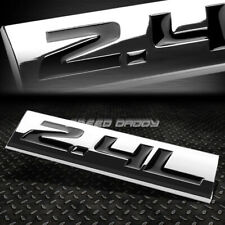 METAL EMBLEM CAR BUMPER TRUNK FENDER DECAL LOGO BADGE CHROME BLACK 2.4L 2.4 L