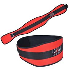 ARD WEIGHT LIFTING BELT GYM WORKOUT POWER LIFTING BACK SUPPORT RED MEDIUM