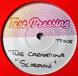 THE CARNATIONS Scorpion VINYL 45 Rockabilly Tittyshaker Rock Roll TEST PRESSING