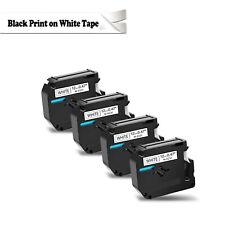 4 Pack For Brother P Touch Pt80 Pt70 Black On White Label Tape M K231 Mk231