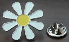 Hippy Daisy Lapel Pin Badge Flower Power Peace Symbol