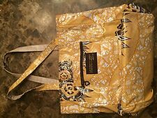 GigiHill Yellow and Brown Floral Patterned Bag