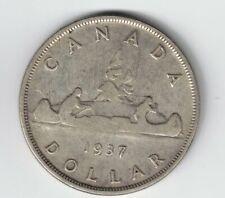 CANADA 1937 VOYAGEUR SILVER DOLLAR KING GEORGE VI SILVER COIN
