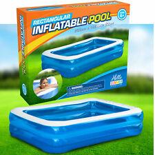 Deluxe Inflatable Swimming Pool Rectangular Garden Family Paddling Large 2 Metre