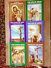 NEW Childrens Catholic Coloring Books-Set 6 different titles. 32 pgs each- #SO7